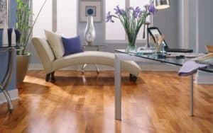 Exotic Hardwood in sitting room