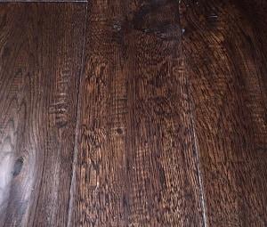 5 in Solid Oak, Handscraped Brown Bear Hardwood