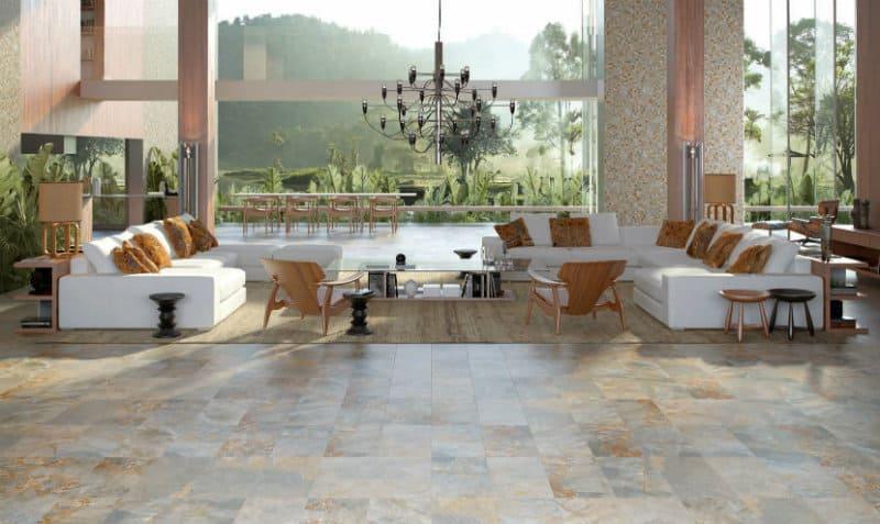 Stone flooring tile
