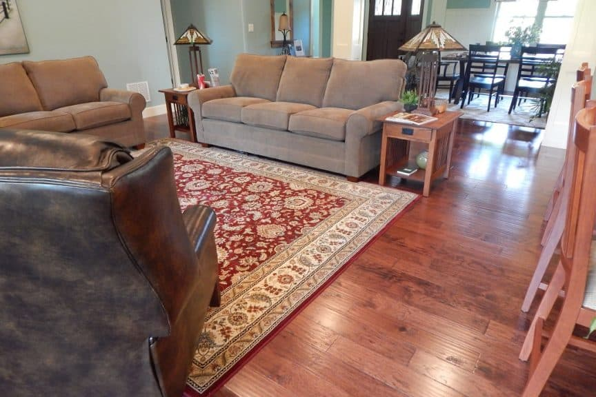 Hardwood Floors and Area Rug