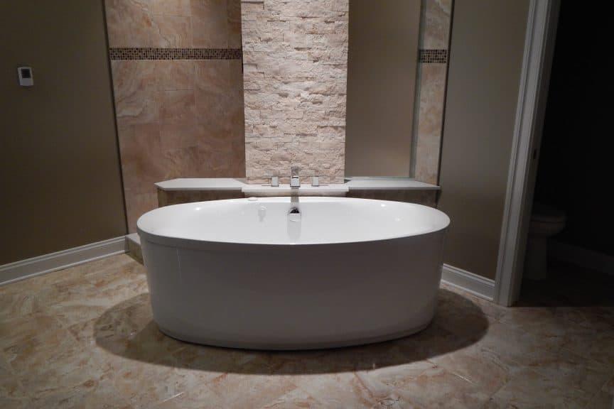 bathtub in master bedroom