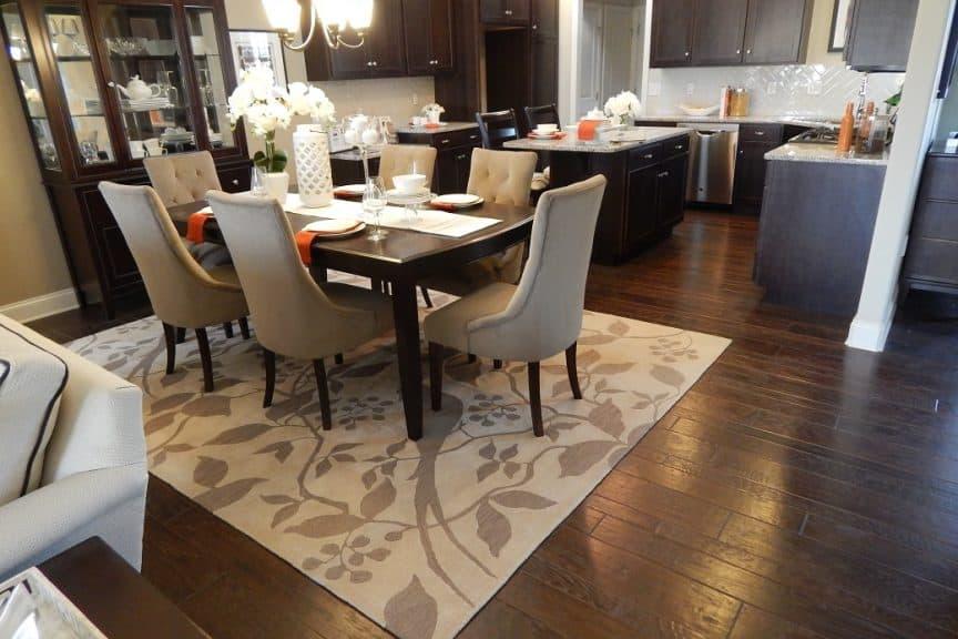 Hardwood Floors with Area Rug