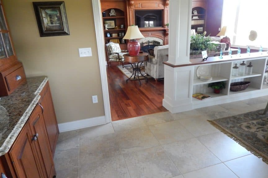 Kitchen Into Living Room