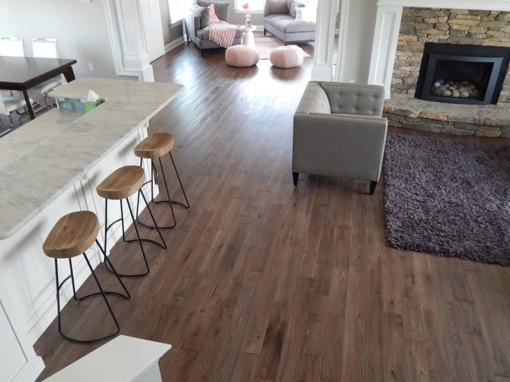 Kitchen and Living Room hardwood flooring