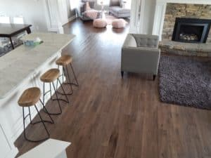 Kitchen and Living Room hardwood flooring