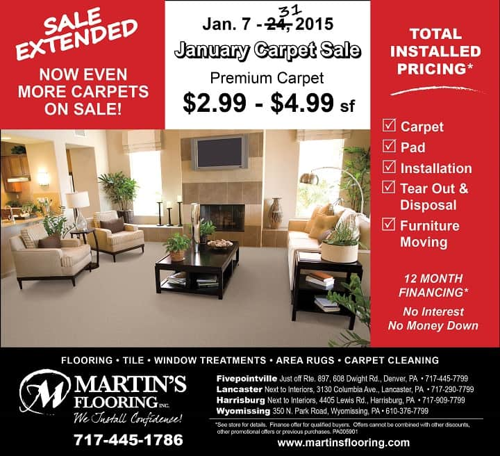 January Carpet Sale Ad 2nd Week Emailweb15 Martin S Flooring