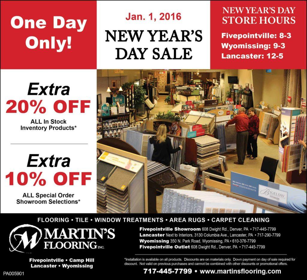 Flooring Sale Flyer : New years sale martin s flooring