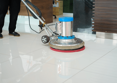 commercial vinyl tile cleaning